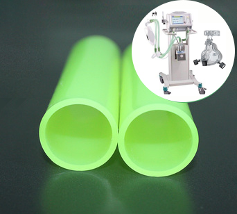 China Professional Fda Non-Toxic Round Clear Silicone Tube Rubber Hose For Ventilator